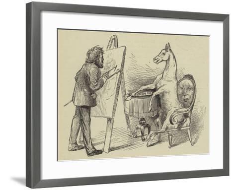 Artist Painting Horse--Framed Art Print