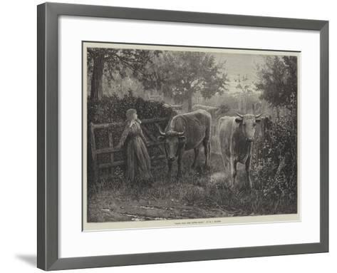Mary, Call the Cattle Home--Framed Art Print