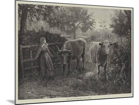 Mary, Call the Cattle Home--Mounted Giclee Print