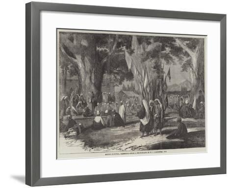 Hindoo Festival, Cashmere--Framed Art Print