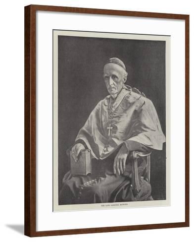 The Late Cardinal Manning--Framed Art Print
