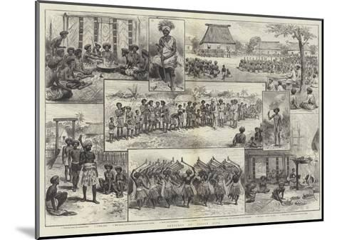 Sketches of Fijian Life--Mounted Giclee Print