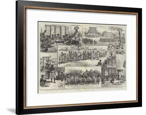 Sketches of Fijian Life--Framed Art Print