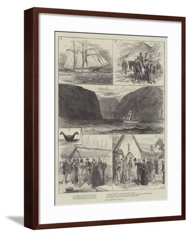 Mr Gladstone in Norway--Framed Art Print