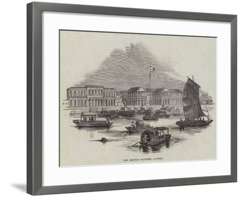 The British Factory, Canton--Framed Art Print