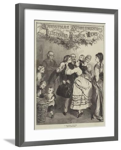 A Christmas Welcome--Framed Art Print