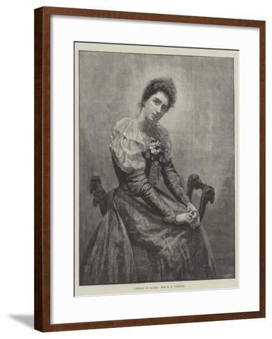 Portrait in Pastel--Framed Art Print