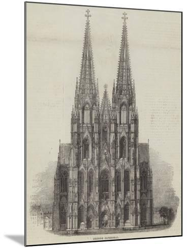 Cologne Cathedral--Mounted Giclee Print