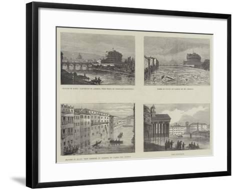 Floods in Rome--Framed Art Print