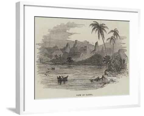 View of Tahiti--Framed Art Print