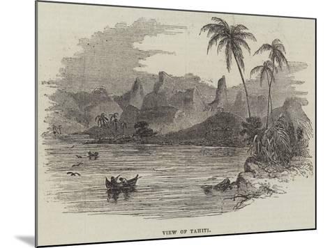 View of Tahiti--Mounted Giclee Print
