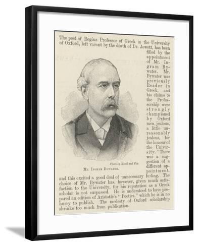 Mr Ingram Bywater--Framed Art Print