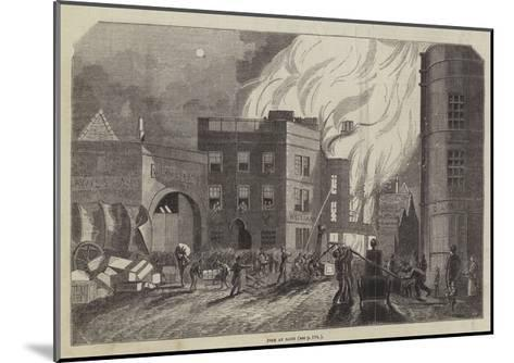 Fire at Bath--Mounted Giclee Print