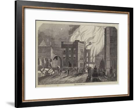 Fire at Bath--Framed Art Print