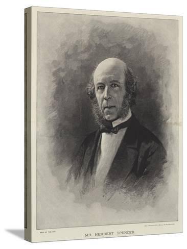 Mr Herbert Spencer--Stretched Canvas Print