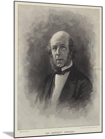 Mr Herbert Spencer--Mounted Giclee Print