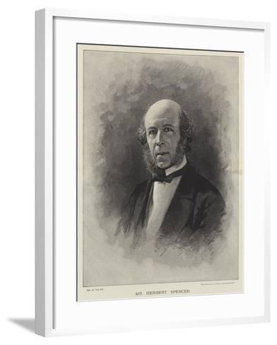 Mr Herbert Spencer--Framed Art Print