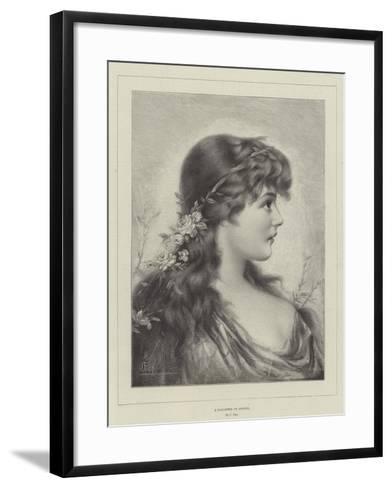 A Daughter of Spring--Framed Art Print