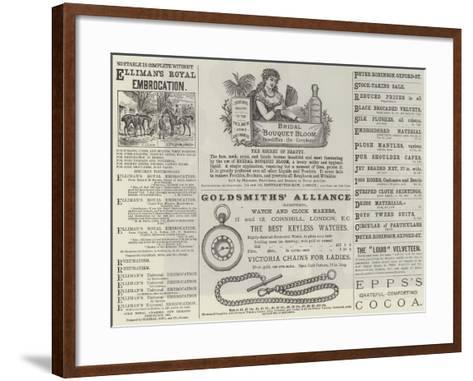 Advertisements--Framed Art Print