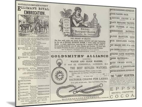 Advertisements--Mounted Giclee Print
