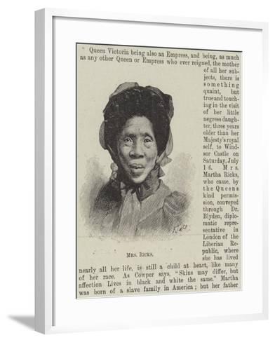 Mrs Ricks--Framed Art Print