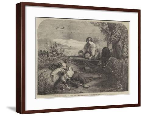 A Rest by the Way--Framed Art Print