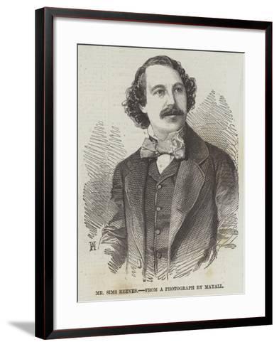 Mr Sims Reeves--Framed Art Print