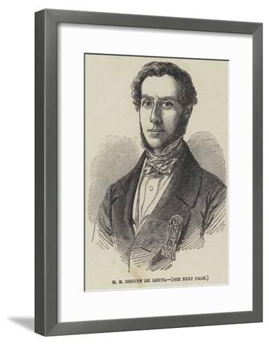 M E Drouyn De Lhuys--Framed Art Print