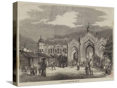 Gateway at Lucknow--Stretched Canvas Print