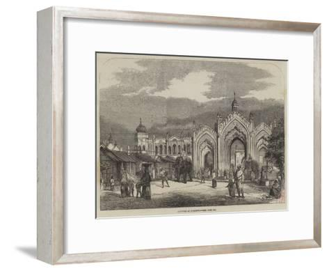 Gateway at Lucknow--Framed Art Print