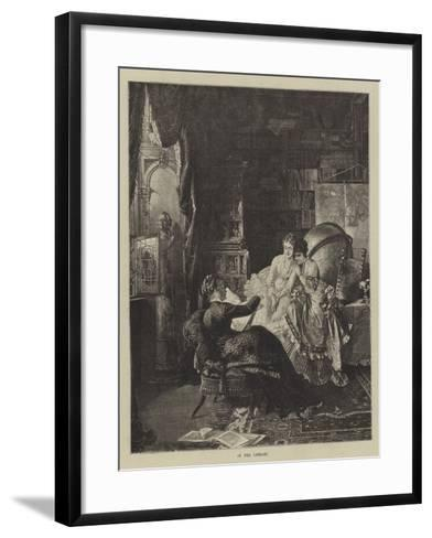 In the Library--Framed Art Print