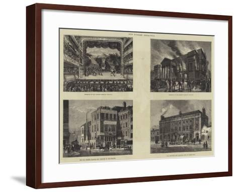 Old London Theatres--Framed Art Print