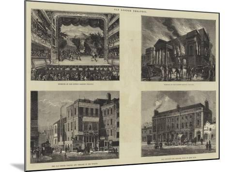 Old London Theatres--Mounted Giclee Print