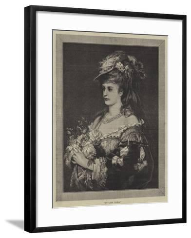 My Lady Flora--Framed Art Print