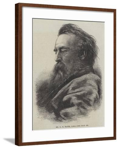Mr G F Watts--Framed Art Print