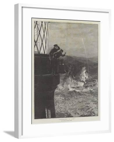 Powerless to Aid!--Framed Art Print