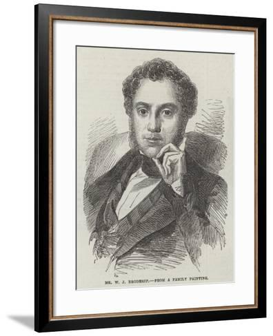 Mr W J Broderip--Framed Art Print