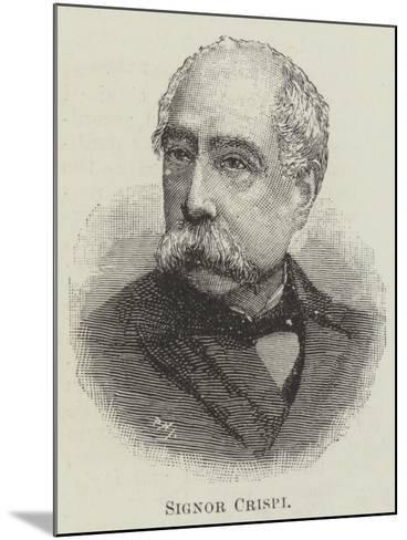 Signor Crispi--Mounted Giclee Print