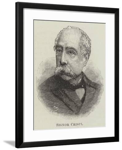 Signor Crispi--Framed Art Print