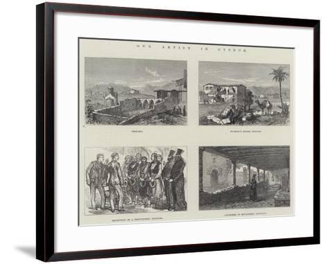 Our Artist in Cyprus--Framed Art Print