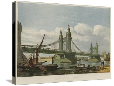 Chelsea New Bridge--Stretched Canvas Print