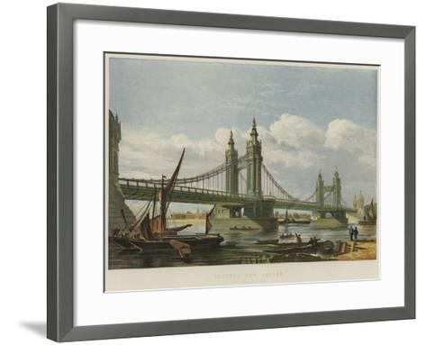 Chelsea New Bridge--Framed Art Print