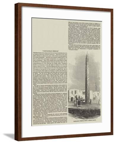 Cleopatra's Needle--Framed Art Print