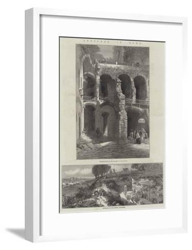 Sketches in Rome--Framed Art Print