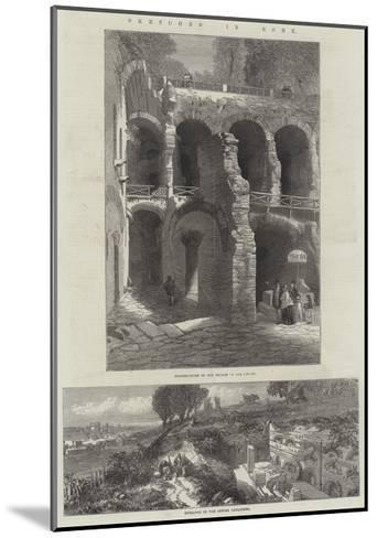 Sketches in Rome--Mounted Giclee Print