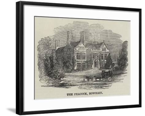 The Peacock, Rowsley--Framed Art Print