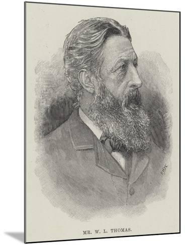 Mr W L Thomas--Mounted Giclee Print
