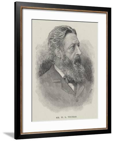 Mr W L Thomas--Framed Art Print