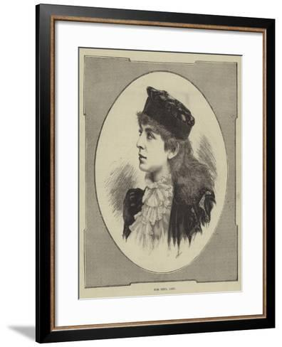 Miss Sibyl Grey--Framed Art Print