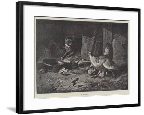 An Intruder--Framed Art Print